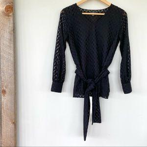 Ann Taylor black long sleeved top